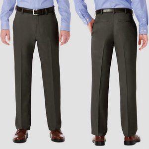 Haggar Gray Performance Classic Fit Dress Pants